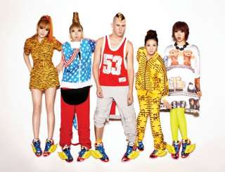 Adidas Jeremy Scott X 2NE1 JS COLLAGE WINGS panda teddy bear obyo pink