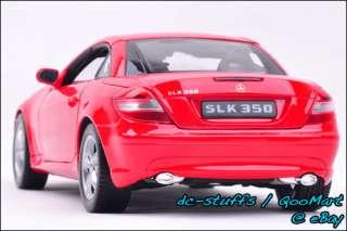 Welly 118 Mercedes Benz SLK 350 Diecast Model Car RED