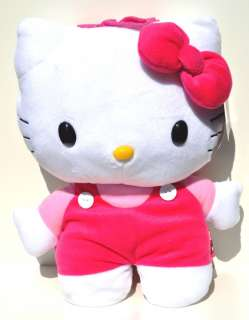 The Hello Kitty plush back pack measures about 14 x 9 x 4