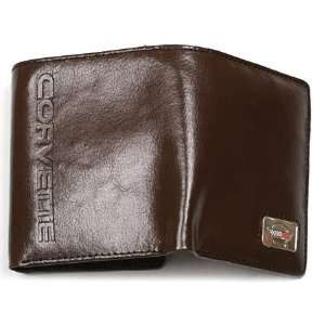 C4 Corvette Brown Leather Trifold Wallet By Motorhead