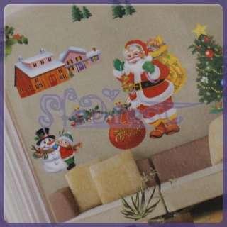 Christmas Happy Holiday Decoration Wall Window Room DOOR Sticker Decal