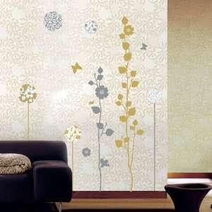 Art Decor Wall Sticker Cartoon Flower Design 70x50cm