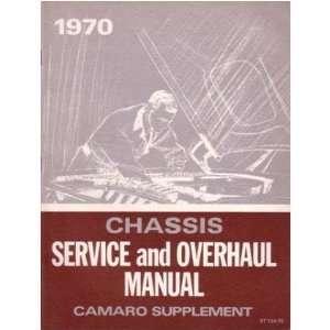 1970 CHEVROLET CAMARO Shop Service Repair Manual Book