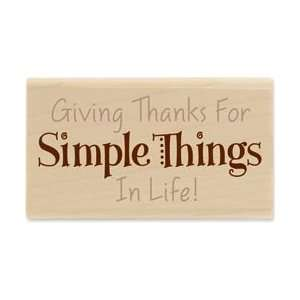 Stamp 1.5X2.75 Simple Things; 2 Items/Order Arts, Crafts & Sewing