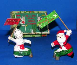 CERAMIC MR & MRS SANTA XMAS CANDLE CLIMBERS IN ORIGINAL BOX