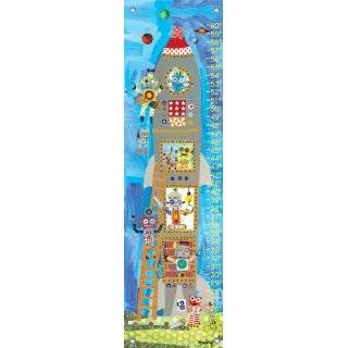Room Spaceship Wall Sticker Growth Height Chart Explore similar items