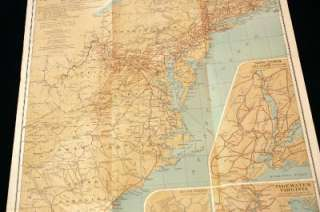 3991) National Geographic Map 1931 Travels of George Washington Where