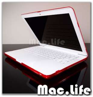RED Crystal Hard Case Cover for NEW Macbook 13 White