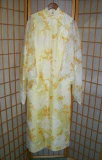 VTG 60s 70s ALFRED SHAHEEN Hippie Angel Wing MAXI DRESS