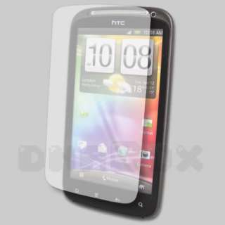 Leather Case Pouch Cover Skin + Film For HTC Sensation _CK