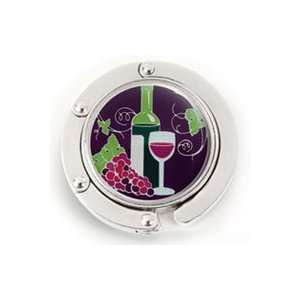 Vino Wine Bottle & Glass Purse Hanger:  Kitchen & Dining