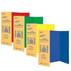 48 Assorted Color Tri Fold Corrugated Case Pack 24