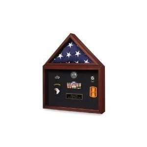Military Flag and Medal Display Case   Shadow Box: Home & Kitchen