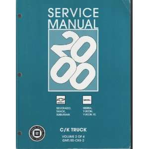 2000 C/k Truck Gm Service Manual 4 Volumes GM Books