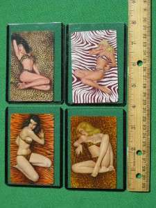 PINUP ART PLAYING CARDS TIGER GIRL PANTHER GIRL LEOPARD GIRL ZEBRA