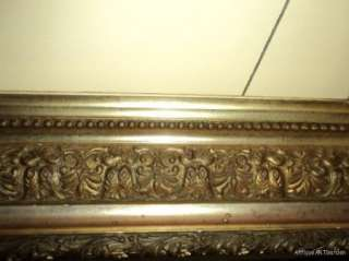ANTIQUE Old Victorian GILT Gesso & Wood FRAME 16 1/8th x 20