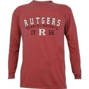 Rutgers Scarlet Knights Pigment Dye Long Sleeve T Shirt