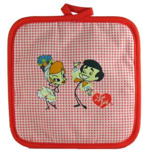 Love Lucy Kitchen Towel+Pot Holder+Oven Mitt+Apron
