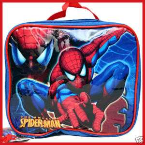 Spider Man School LUNCH BOX Tote BAG Snack carrier *NEW