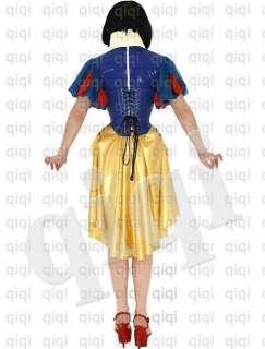 Latex (rubber) Snow White Uniform  0.45mm suit catsuit