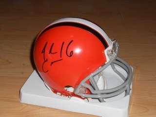 Josh Cribbs autographed Cleveland Browns mini helmet B