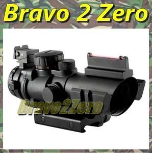 Style 4x32 Fiber Optic + RGB Crosshair Dual Illuminated Rifle Scope