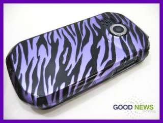 for AT&T Pantech Crossover P8000   Purple Zebra Hard Case Phone Cover