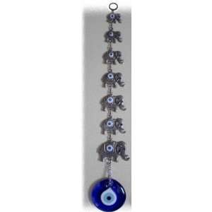 Evil Eye Wall Hanging with Good Luck Elephants  Kitchen