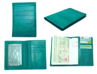 Genuine Eel skin Leather PASSPORT holder Wallet Travel wallet 13
