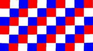 CHECKERED RED, WHITE & BLUE FLAG 3 X 5 LOT OF 10