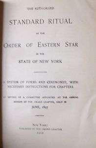 Masonic Lodge Book Fraternal Eastern Star Rituals Rules
