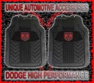 2PC DODGE RAM HEAD LOGO HIGH PERFORMANCE FLOOR MATS NEW