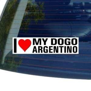 I Love Heart My DOGO ARGENTINO   Dog Breed   Window Bumper
