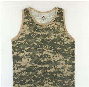 Tank Top Muscle T Tee Shirt Camouflage Military Pride