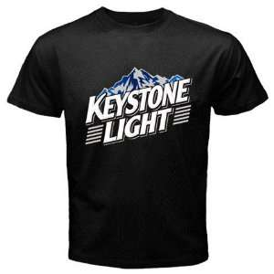 Keystone Light Beer Logo New Black T shirt Size XL