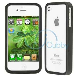 PRIVACY FILTER+BLACK CASE+CAR CHARGER for Apple iPhone 4S 4 G