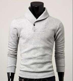 New Mens Slim Fit Casual Jacket Dress Coat Hoody H6034