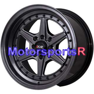 Chromium Black Rims Wheels Deep Dish 91 92 95 02 Honda Civic SI