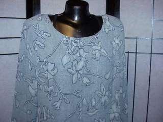 CAROLE LITTLE AQUA SPRING RAYON DRESS ARTY 14