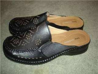 NEW Sag Harbor Black Mules Shoes Womens 7.5 7 1/2   8 M