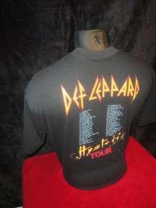 Def Leppard Hysteria Tour T Shirt XL Vtg 1988 Bludgeon Riffola Ltd 50%