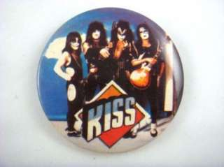 KISS Pinback Button Badge Rock & Roll UK Concert Pinback