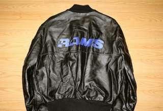 Vintage Los Angeles Rams DeLong leather jacket NWT NFL Dickerson LA