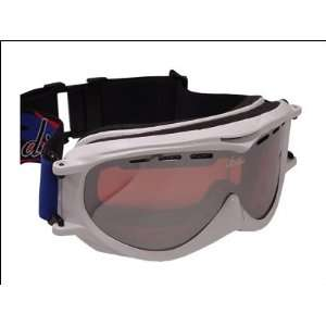 Divine FROST Snow Goggles   Shiny White Frame/Silver Flash Rose
