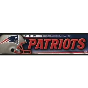 New England Patriots   Helmet & Name Bumper Sticker