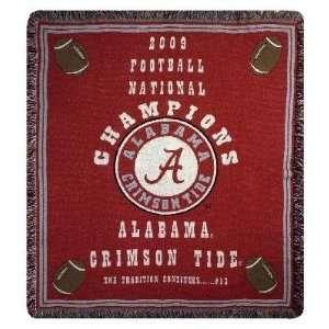 Alabama Crimson Tide 2009 Championship Collegiate Throw 50 x 60