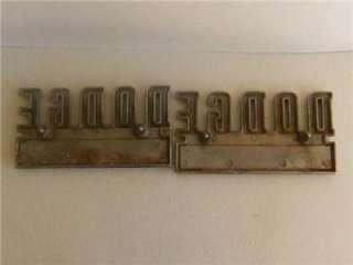 Vintage Dodge Car Chrome Emblems (2) Large Letters