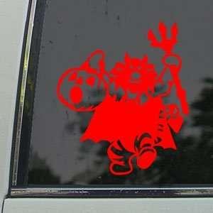 Disney Red Decal Winnie The Pooh Tigger Window Red Sticker