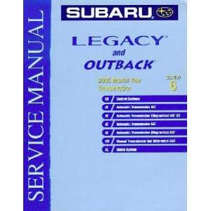 2005 Subaru Legacy and Outback Transmission Service Manual