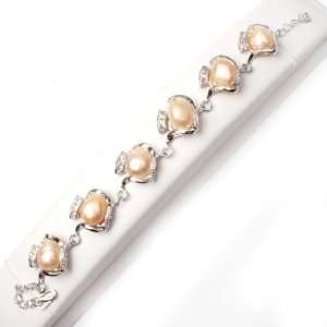 pearl white gold plated bracelet adjustable size Fashion DIY Jewelry